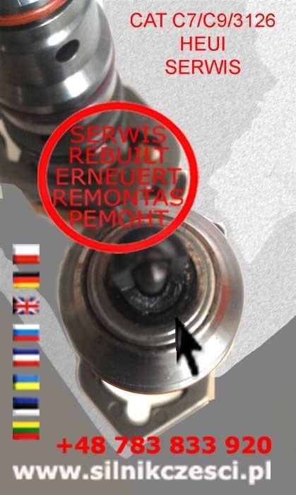 3126_CAT_uszkodzona_końcówka_regeneracja_remanufacture_HEUI_nozzle